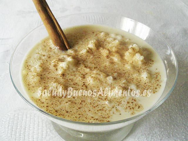 Arroz con leche caldoso
