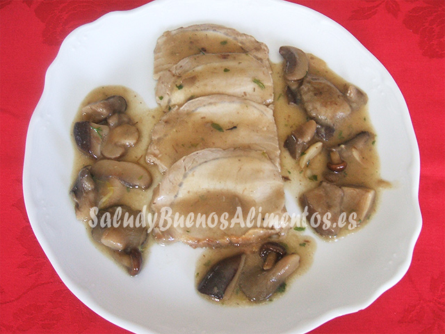 Lomo de cerdo en salsa de boletus