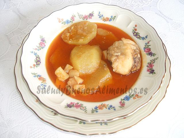 Patatas con rape y sepia